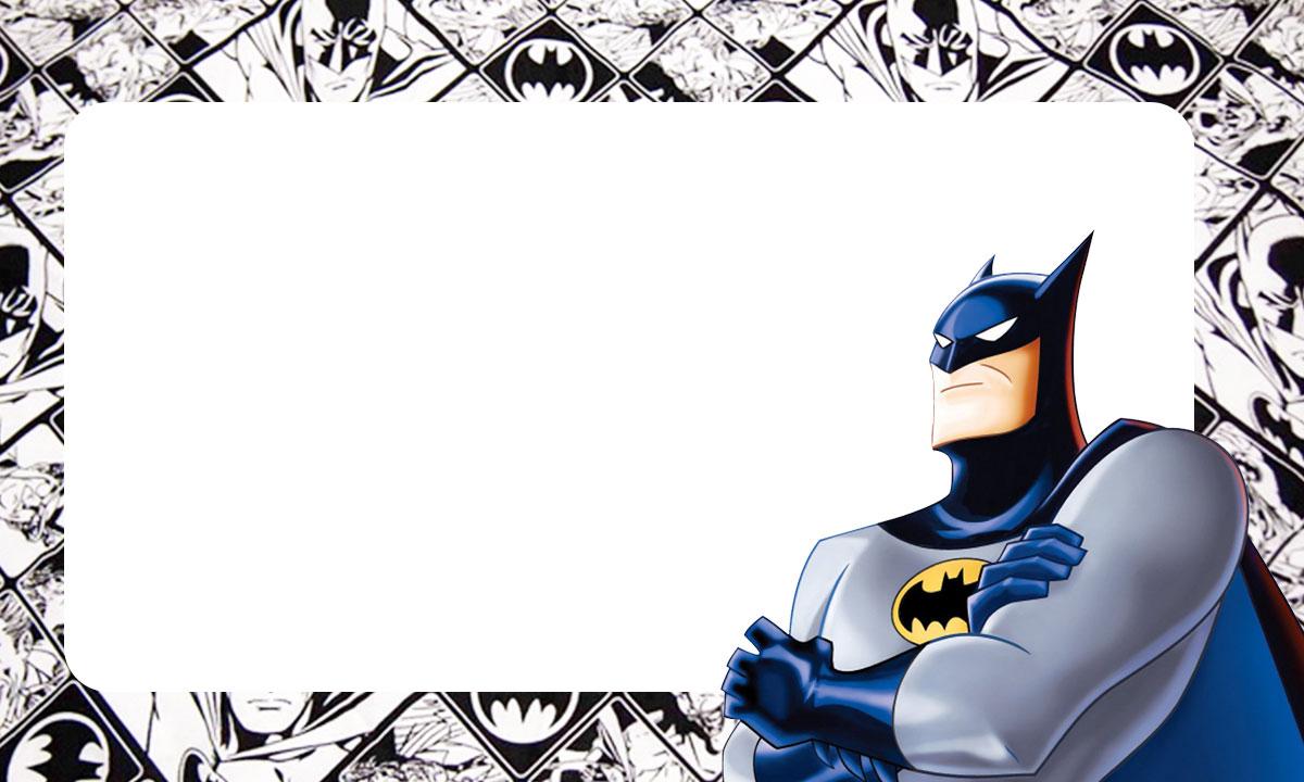 Etiqueta Escolar Batman para imprimir 2