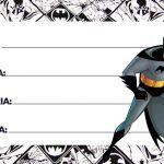 Etiqueta Escolar Batman para imprimir 3