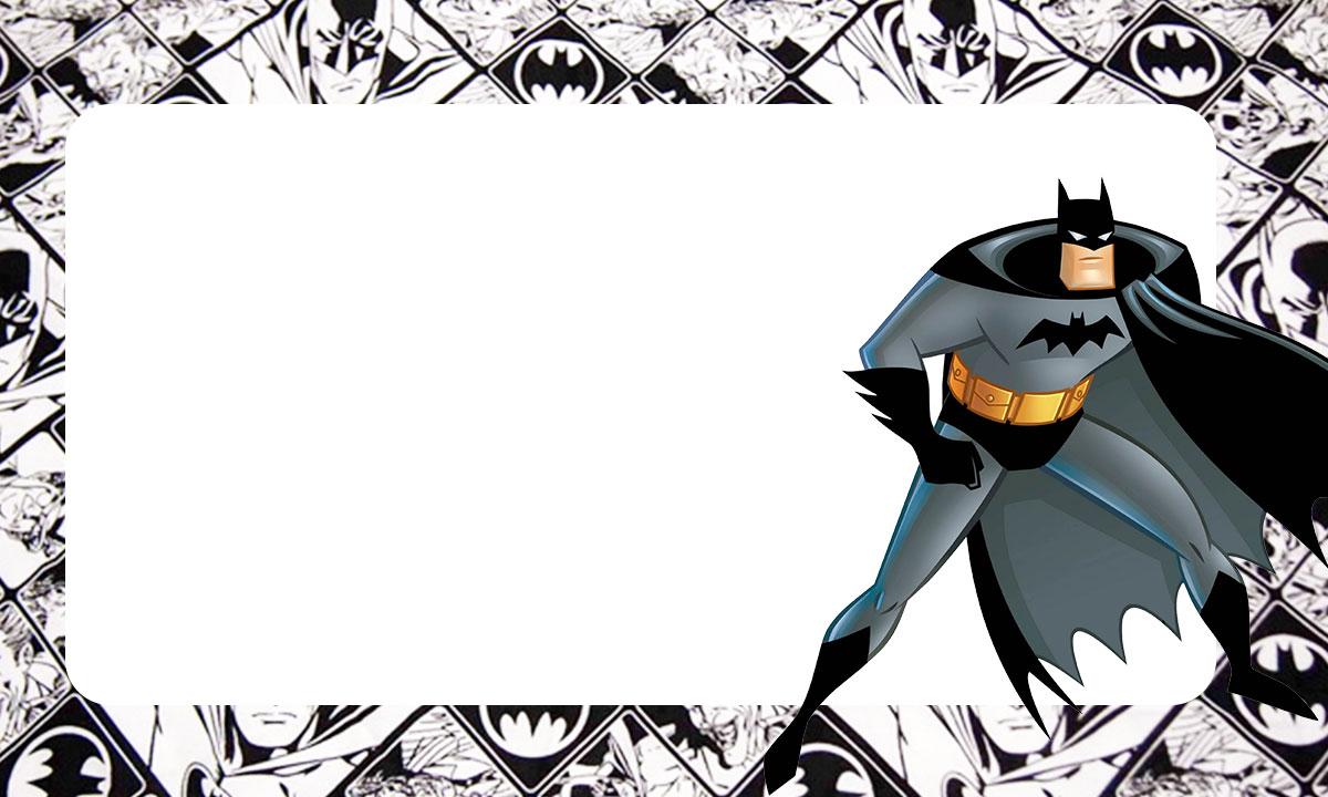 Etiqueta Escolar Batman para imprimir 4