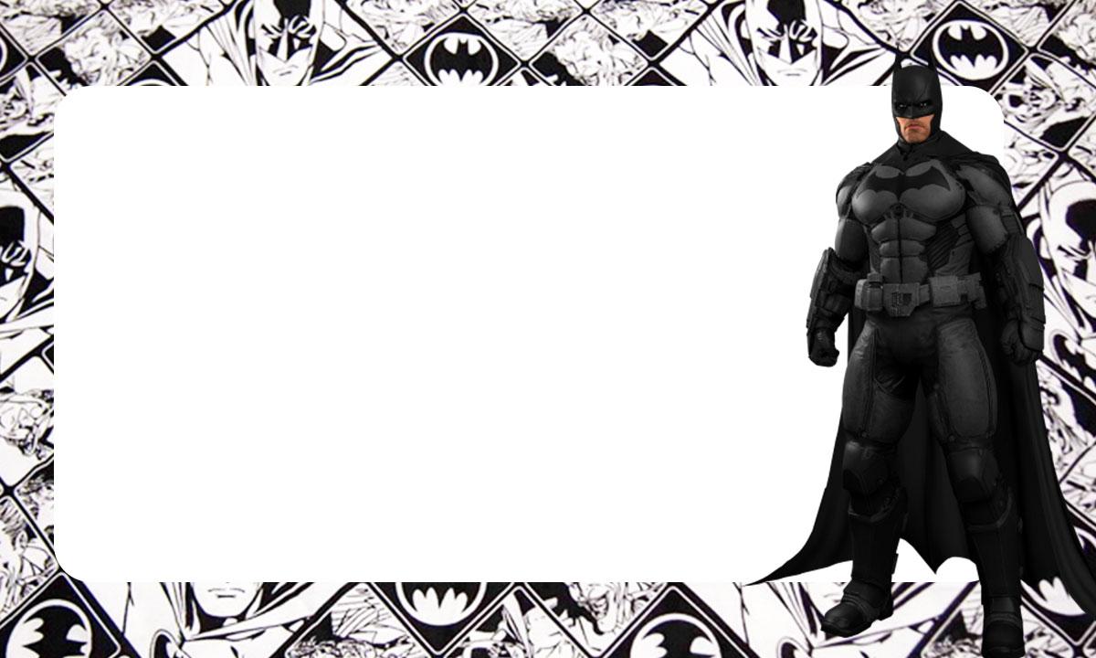 Etiqueta Escolar Batman para imprimir 5