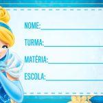 Etiqueta Escolar Cinderella para imprimir