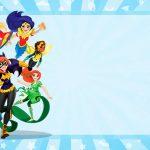 Etiqueta Escolar DC Super Hero Gils para editar