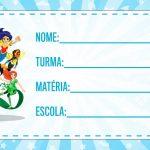 Etiqueta Escolar DC Super Hero Gils para imprimir