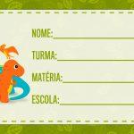 Etiqueta Escolar Dinossauros para imprimir