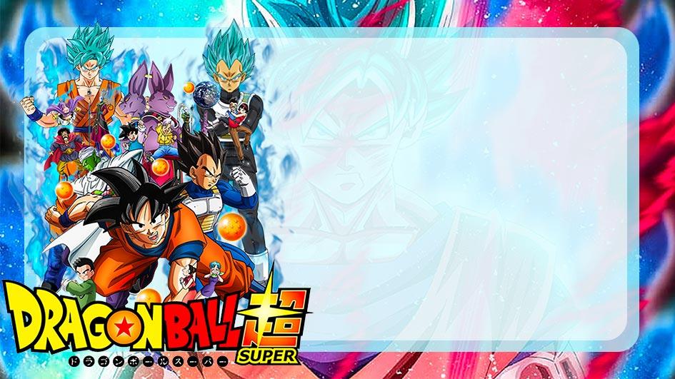 Etiqueta Escolar Dragon Ball Super para editar