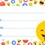 Etiqueta Escolar Emoji 10