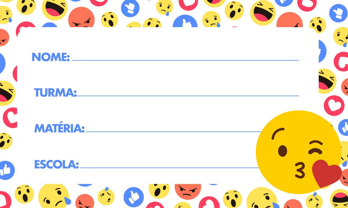 Etiqueta Escolar Emoji 6