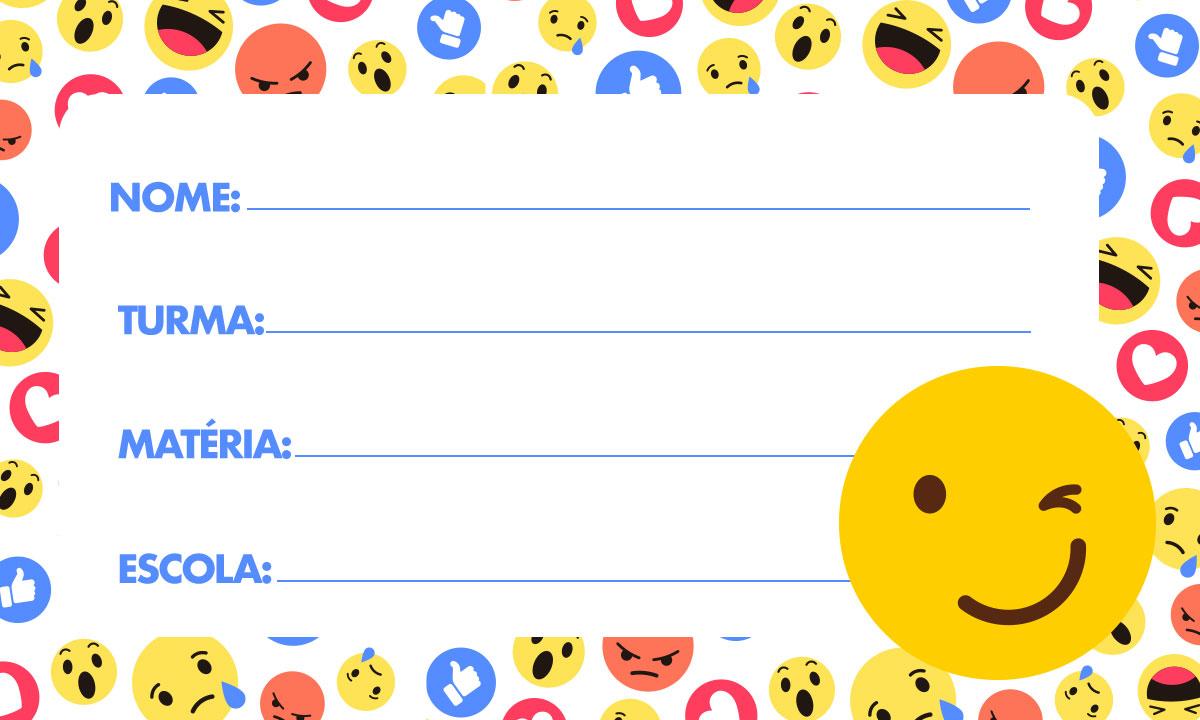 Etiqueta Escolar Emoji 7