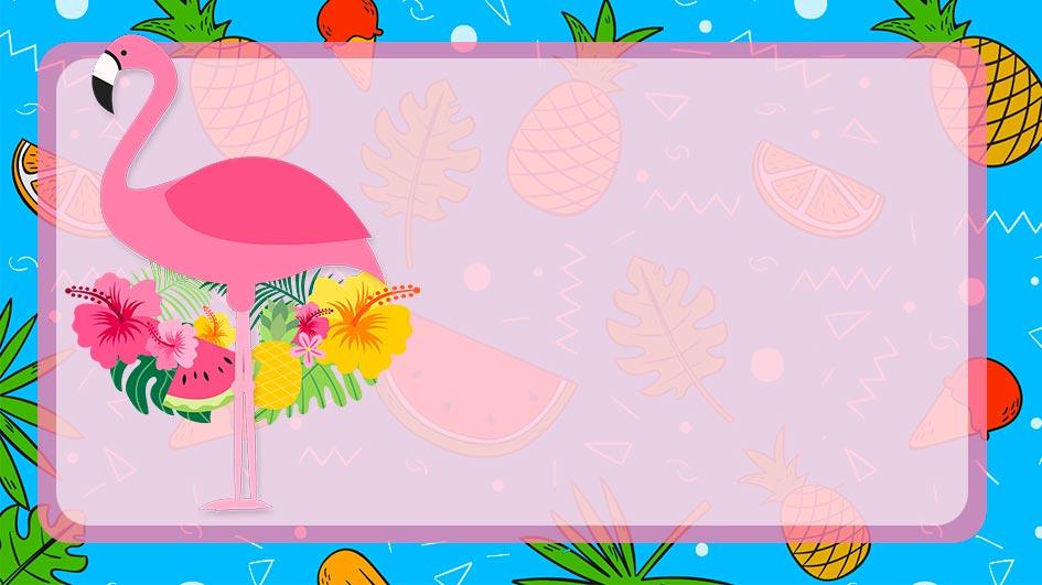 Etiqueta Escolar Flamingo para editar