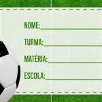 Etiqueta Escolar Futebol para imprimir