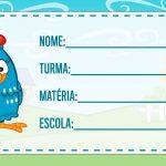 Etiqueta Escolar Galinha Pintadinha para imprimir