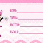 Etiqueta Escolar Minnie Rosa para imprimir