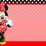 Etiqueta Escolar Minnie Vermelha para editar