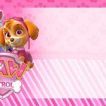 Etiqueta Escolar Patrulha Canina para meninas para editar