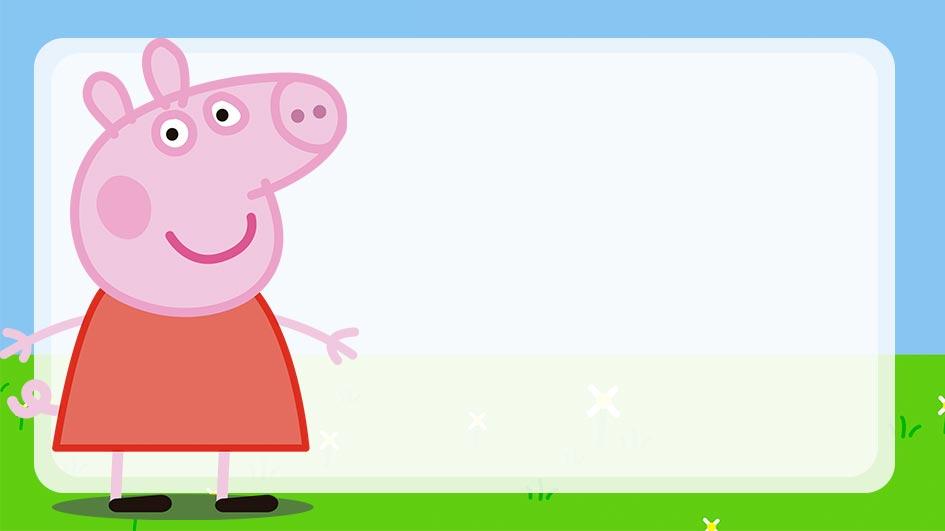 Etiqueta Escolar Peppa Pig para editar