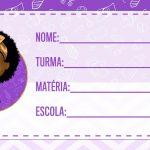 Etiqueta Escolar Poderosa Chefinha Afro para imprimir