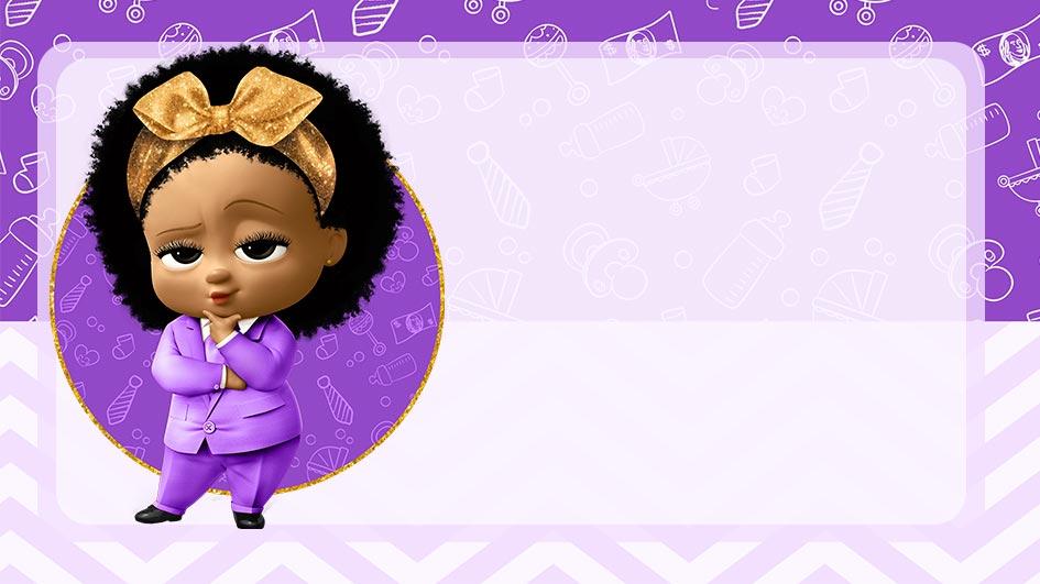 Etiqueta Escolar Poderosa Chefinha Afro