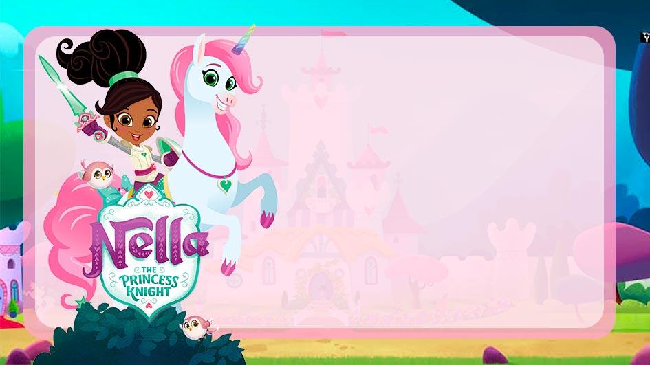 Etiqueta Escolar Princesa Nella para editar
