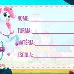 Etiqueta Escolar Princesa Nella para imprimir