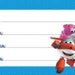 Etiqueta Escolar Super Wings 10