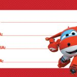 Etiqueta Escolar Super Wings 4