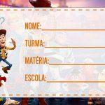 Etiqueta Escolar Toy Story 4 para imprimir