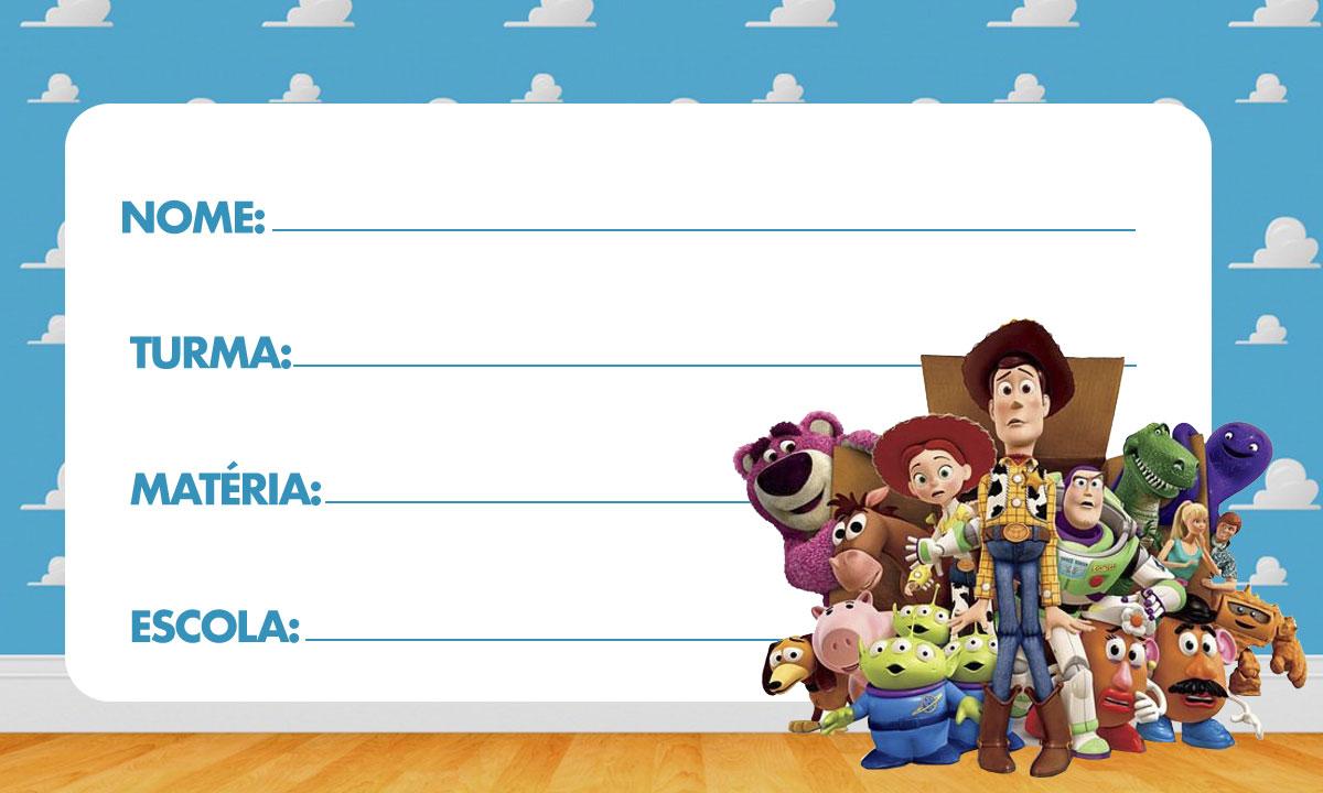 Etiqueta Escolar Toy Story para Imprimir 2