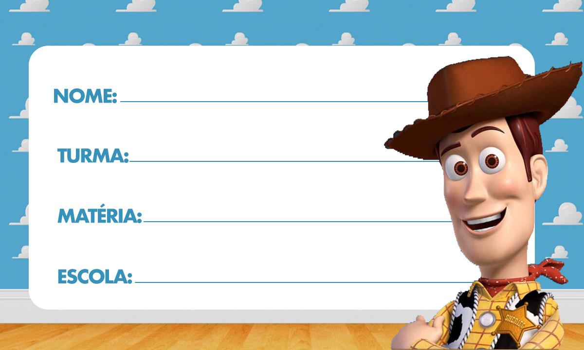 Etiqueta Escolar Toy Story para Imprimir 3