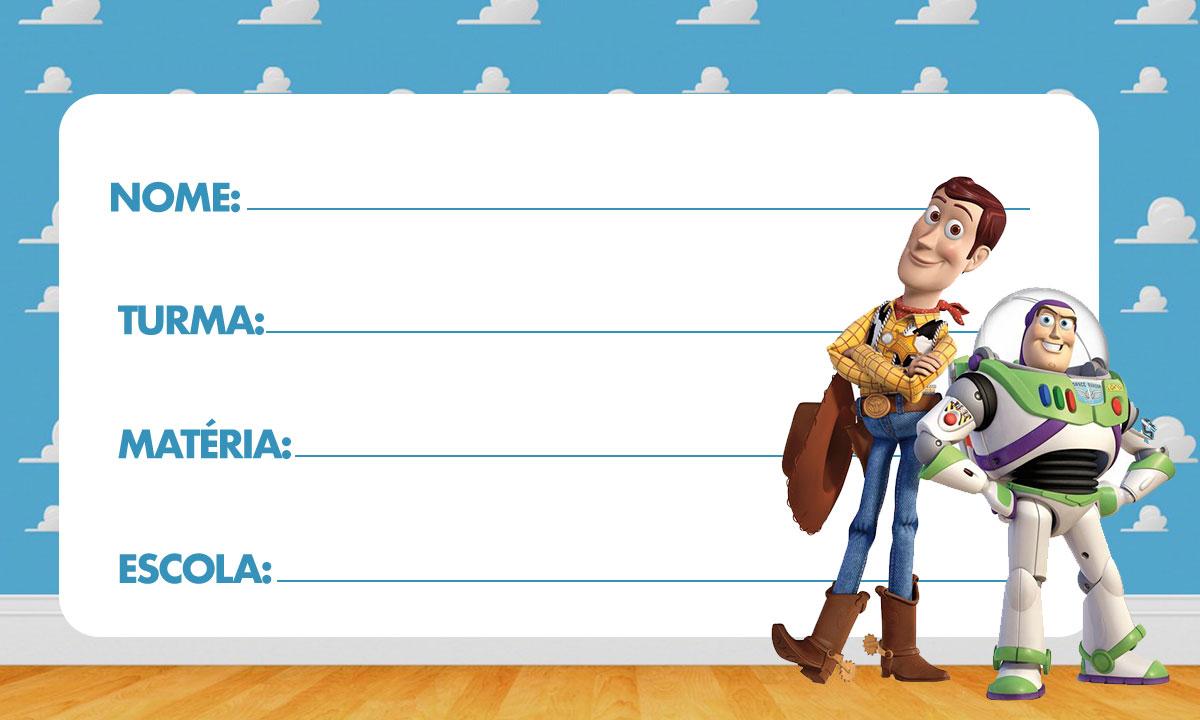 Etiqueta Escolar Toy Story para Imprimir 5