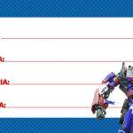 Etiqueta Escolar Transformers para imprimir 2