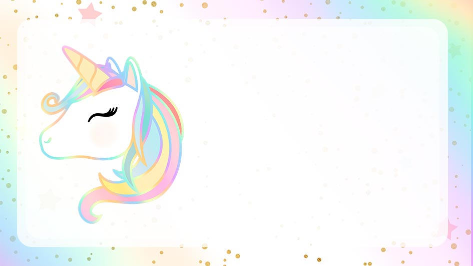Etiqueta Escolar Unicornio para editar