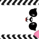 Etiqueta Escolar para Imprimir Panda Rosa
