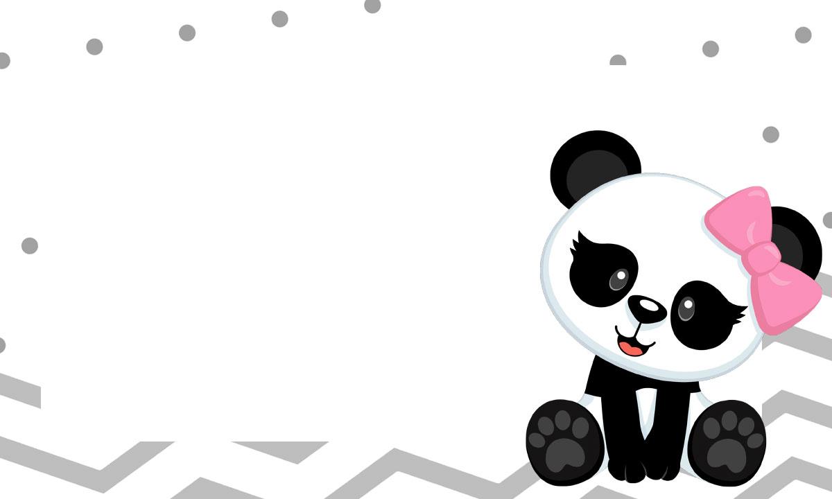 Etiqueta Escolar para Imprimir Panda Rosa 6