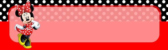 Etiqueta Escolar para Lapis Minnie Vermelha