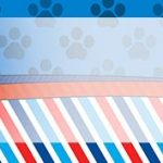 Etiqueta Escolar para Lapis Patrulha Canina Azul