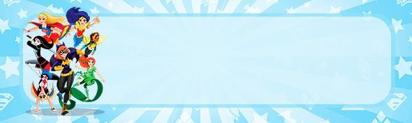 Etiqueta Escolar para lapis Dc Super Hero Girls