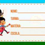 Etiqueta Volta as Aulas 3 Palavrinhas