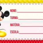 Etiqueta Volta as Aulas Mickey
