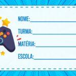 Etiqueta Volta as Aulas Video Game Xbox
