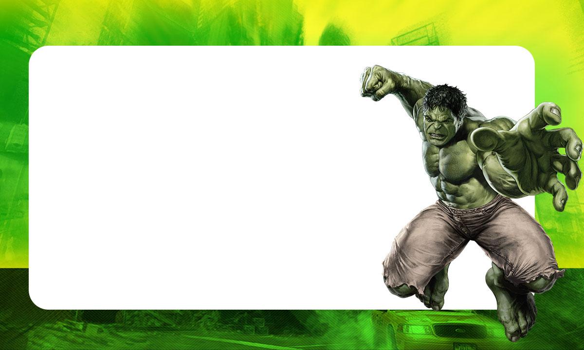 Etiqueta escolar Hulk 2