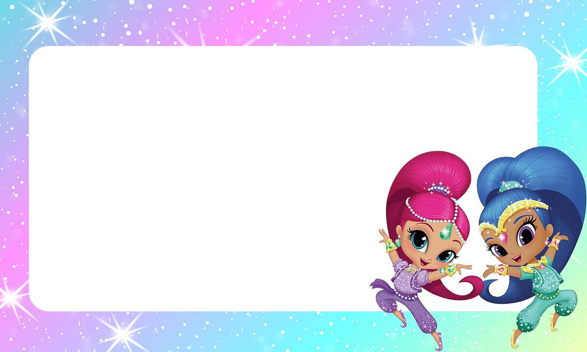 Etiqueta escolar Shimmer e Shine 10
