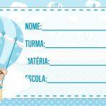 Etiqueta escolar Ursinho Baloeiro para imprimir