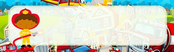 Etiqueta escolar para Lapis Bombeiro Afro
