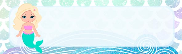 Etiqueta escolar para Lapis Sereia Loira