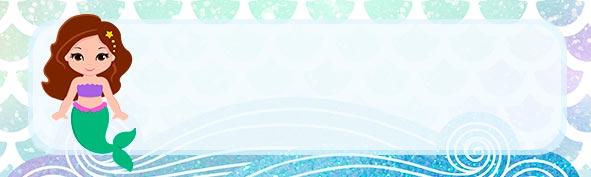 Etiqueta escolar para Lapis Sereia Morena