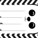 Etiquetas Escolares Panda Preto e branco 2