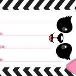 Etiquetas Escolares Panda Rosa 2