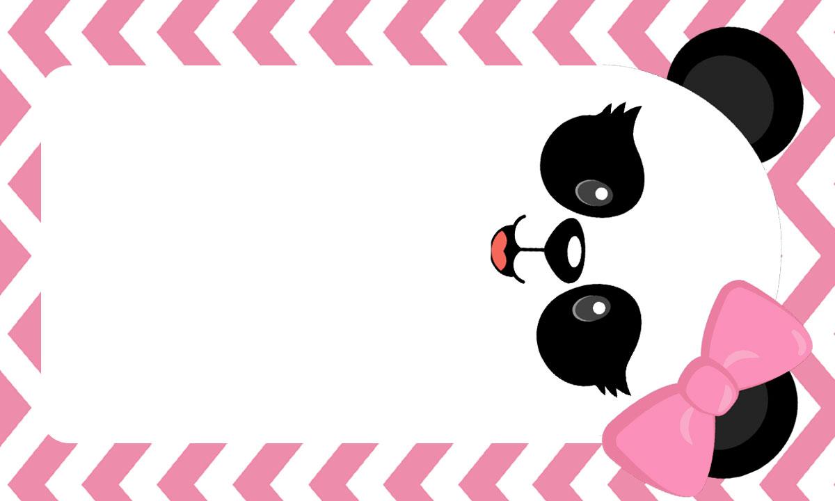 Etiquetas Escolares Panda Rosa 3