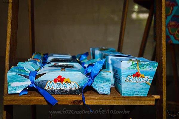 Festa Moana da Ayla caixinhas