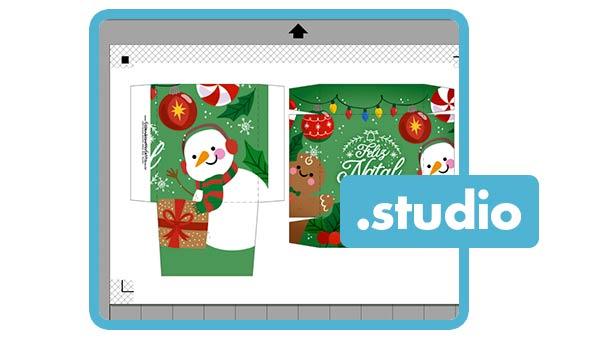 Molde Mini Panetone de Natal Silhouette Studio